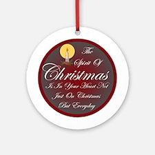 Spirit Of Christmas Ornament (Round)