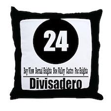 24 Divisadero (Classic) Throw Pillow