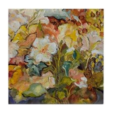 Flowers in My New Studio Tile Coaster