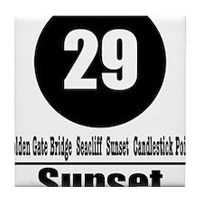 29 Sunset (Classic) Tile Coaster