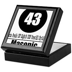 43 Masonic (Classic) Keepsake Box