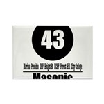 43 Masonic (Classic) Rectangle Magnet (100 pack)
