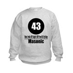 43 Masonic (Classic) Kids Sweatshirt