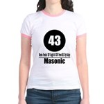 43 Masonic (Classic) Jr. Ringer T-Shirt