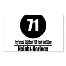 71 Haight-Noriega (Classic) Rectangle Decal