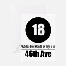 18 46th Ave (Classic) Greeting Cards (Pk of 10)