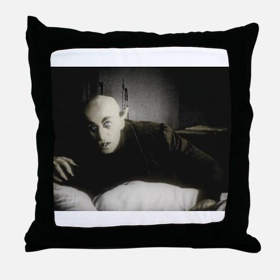 Cute Dracula Throw Pillow