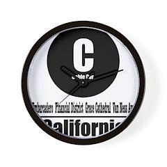 C California Cable Car (Class Wall Clock