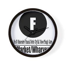 F Market/Wharves (Classic) Wall Clock