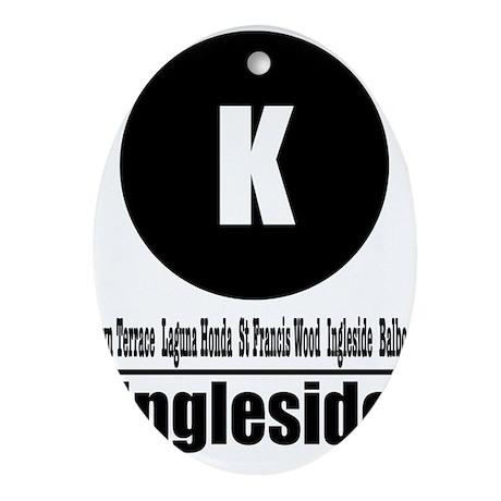 K Ingleside (Classic) Oval Ornament