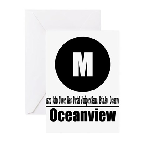 M Oceanview (Classic) Greeting Cards (Pk of 10)