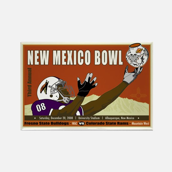 New Mexico Bowl 2008 Rectangle Magnet