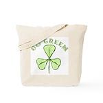 Go Green Shamrock Irish Reusable Canvas Tote Bag