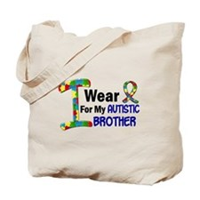 I Wear Puzzle Ribbon 21 (Brother) Tote Bag