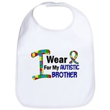 I Wear Puzzle Ribbon 21 (Brother) Bib