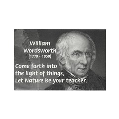 William Wordsworth Rectangle Magnet