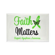 Lymphoma Faith Matters Rectangle Magnet