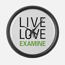 Live Love Examine Large Wall Clock