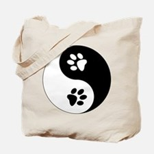 Yin Yang Paws Tote Bag