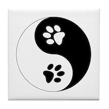 Yin Yang Paws Tile Coaster