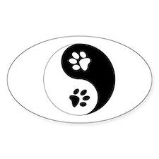 Yin Yang Paws Decal