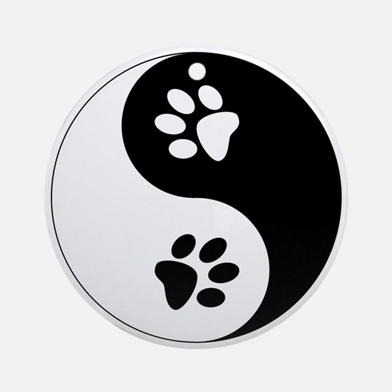 Yin Yang Paws Ornament (Round)