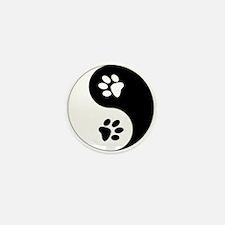 Yin Yang Paws Mini Button (10 pack)