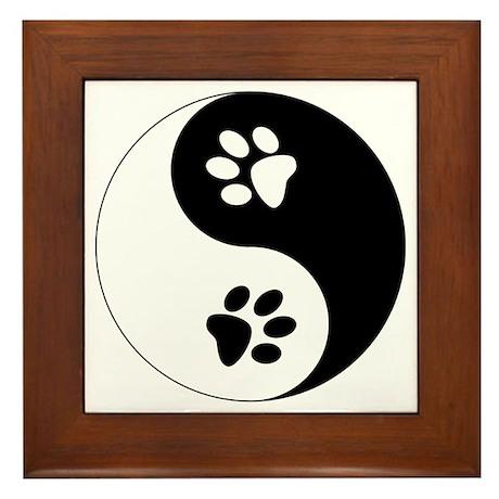 Yin Yang Paws Framed Tile