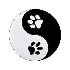 "Yin Yang Paws 3.5"" Button (100 pack)"