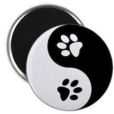 "Yin Yang Paws 2.25"" Magnet (10 pack)"