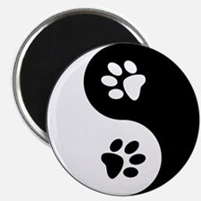 "Yin Yang Paws 2.25"" Magnet (10 pack)"