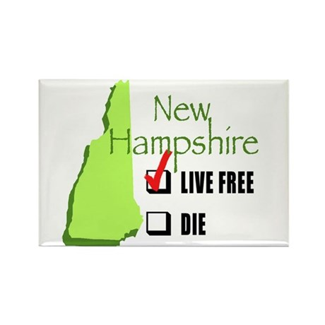 Live Free or Die New Hampshire Rectangle Magnet (1