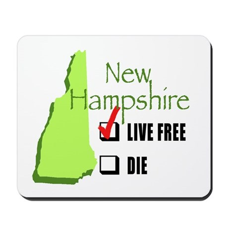 Live Free or Die New Hampshire Mousepad