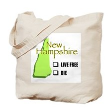 Live Free or Die New Hampshire Tote Bag