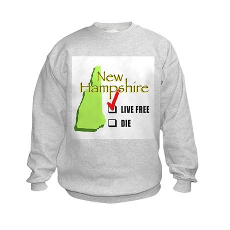 Live Free or Die New Hampshire Kids Sweatshirt