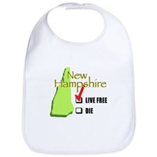 Live Free or Die New Hampshire Bib