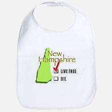 Live Free or Die New Hampshire Bib