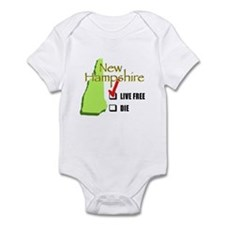 Live Free or Die New Hampshire Infant Bodysuit