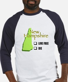 Live Free or Die New Hampshire Baseball Jersey