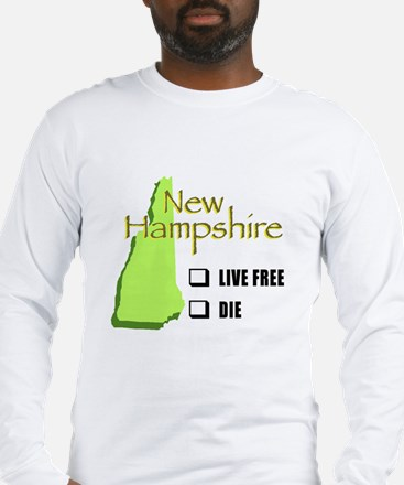 Live Free or Die New Hampshire Long Sleeve T-Shirt