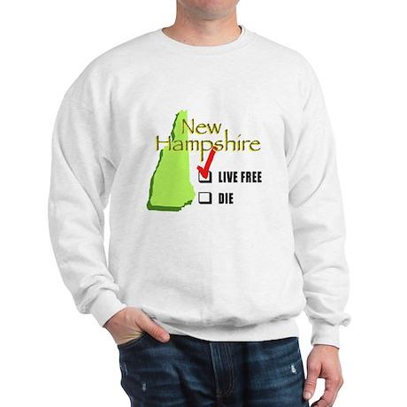 Live Free or Die New Hampshire Sweatshirt