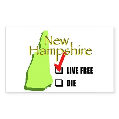 Live Free or Die New Hampshire Rectangle Sticker