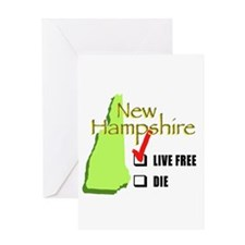 Live Free or Die New Hampshire Greeting Card