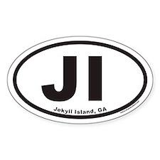 Jekyll Island JI Euro Oval Decal