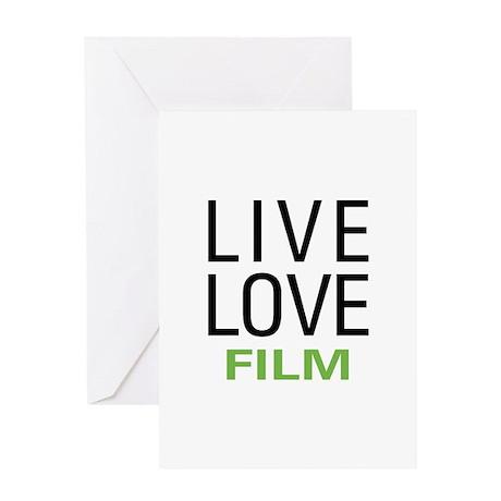 Live Love Film Greeting Card