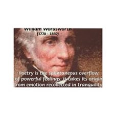 Poet William Wordsworth Rectangle Magnet (10 pack)