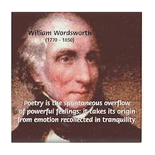 Poet William Wordsworth Tile Coaster