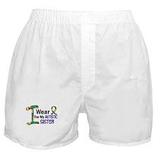 I Wear Puzzle Ribbon 21 (Sister) Boxer Shorts