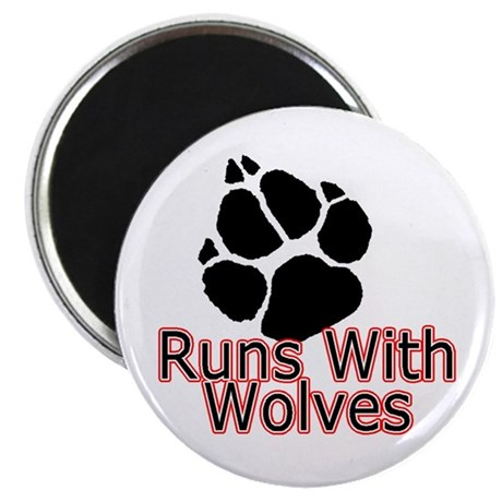 Runs With Wolves Magnet