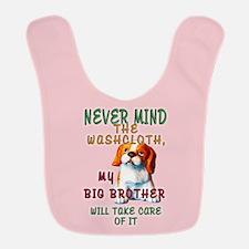 Never Mind for Girls Polyester Baby Bib